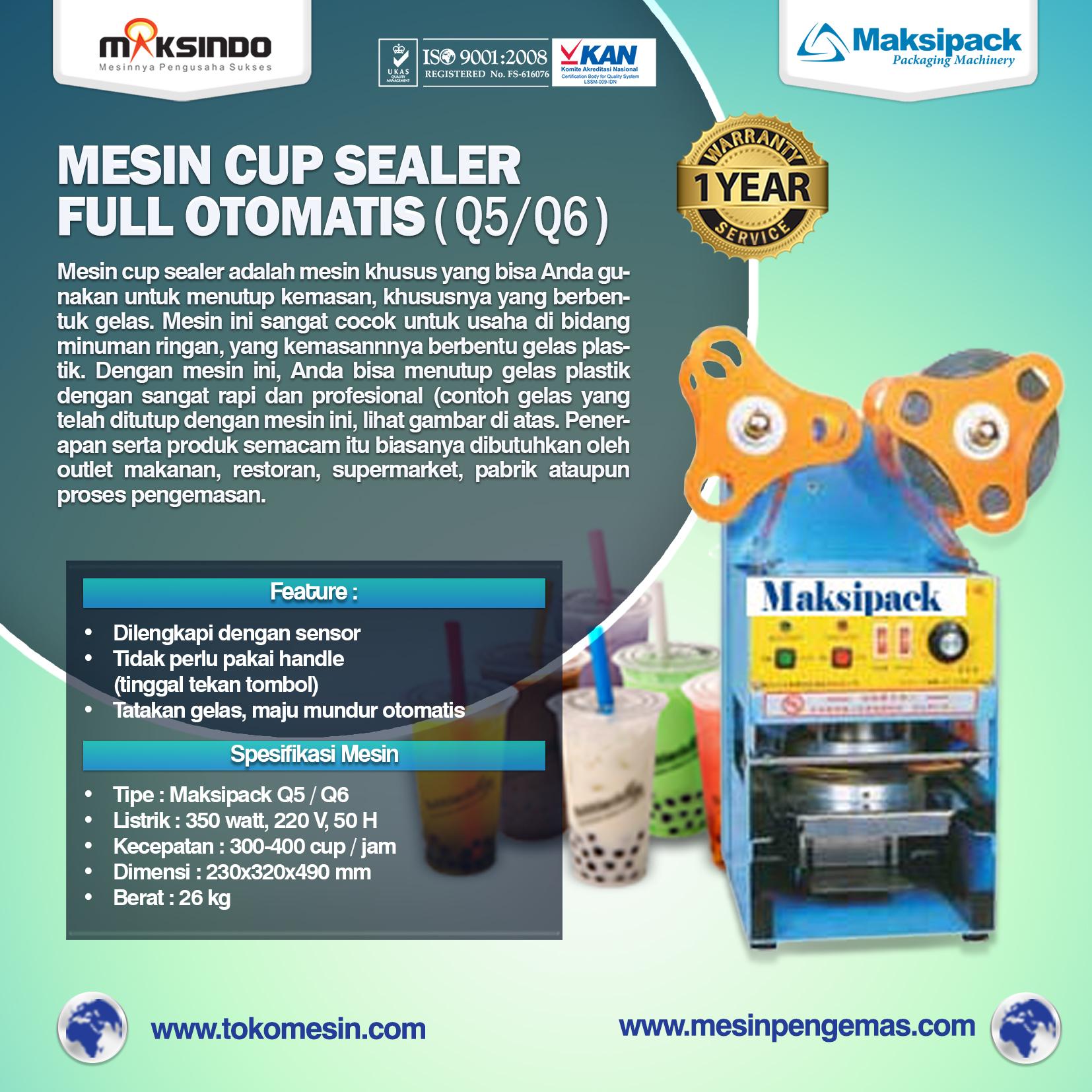 Mesin Cup Sealer Full Otomatis ( Q5 Q6 )