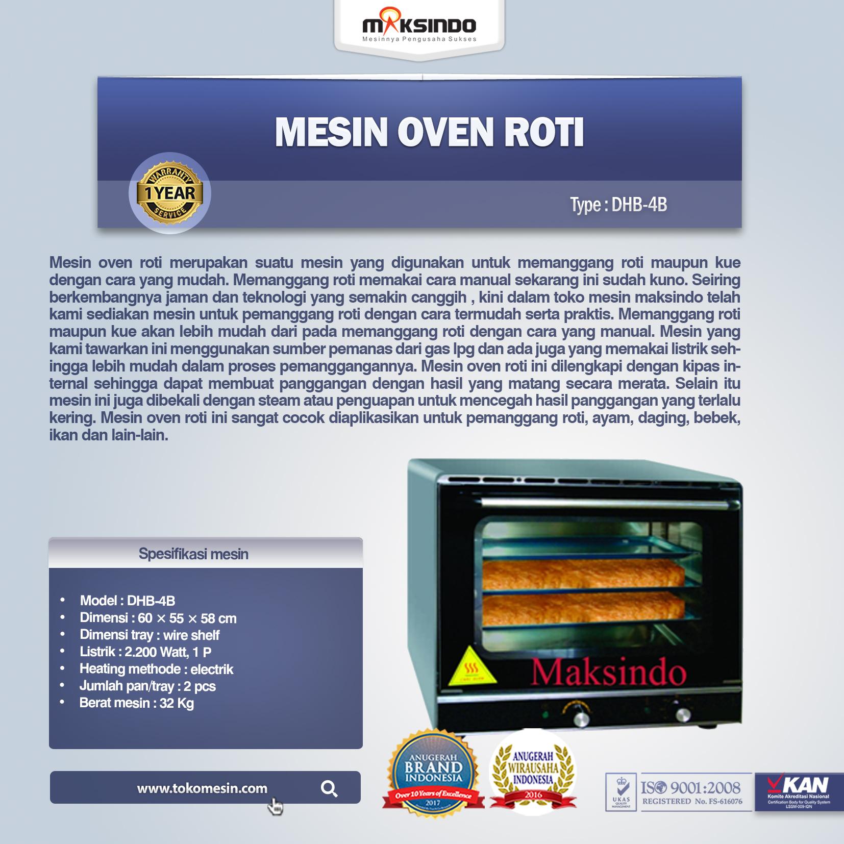 Mesin Oven Roti ( DHB-4B )