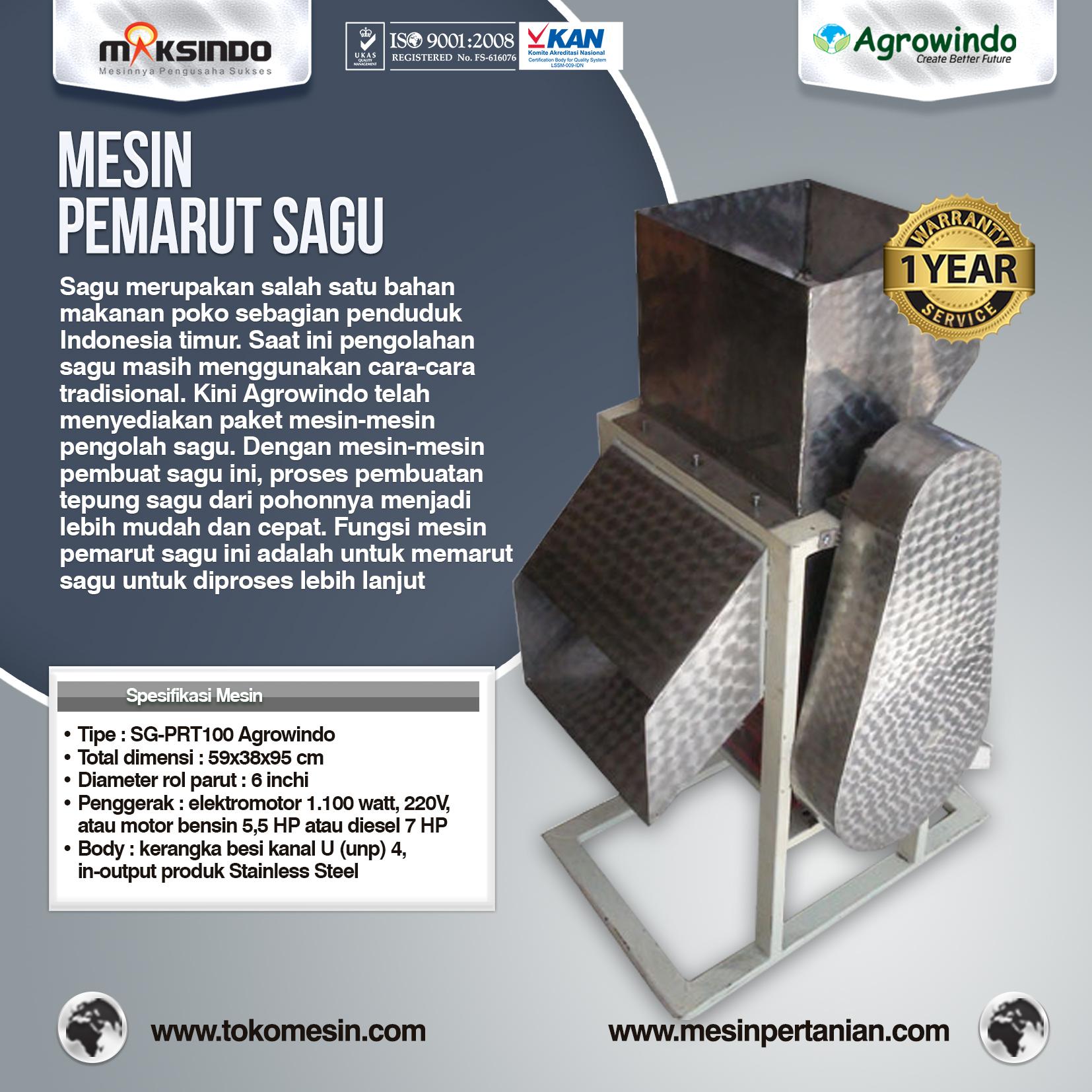 Mesin Pemarut Sagu SG-PRT100 Agrowindo