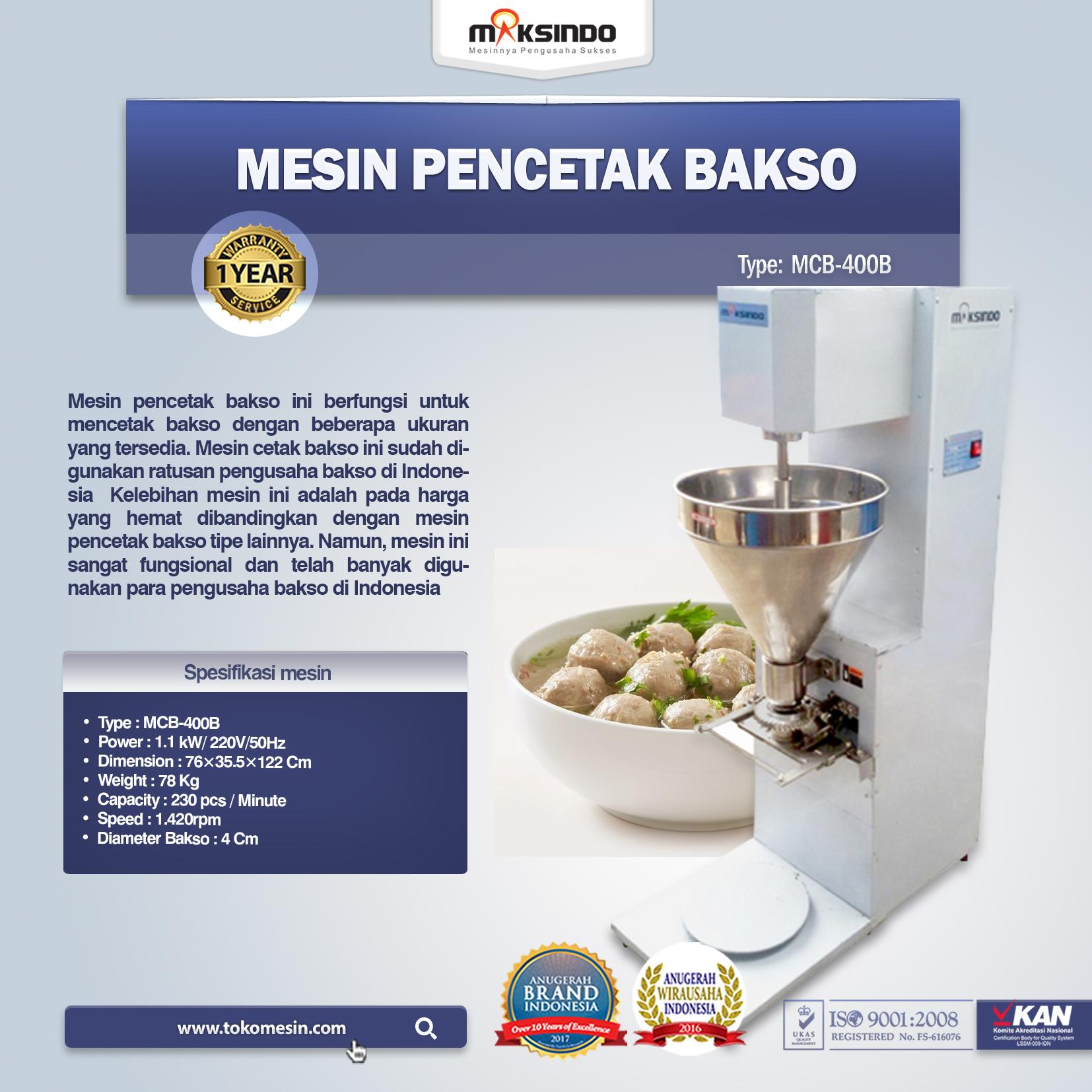 Mesin Pencetak Bakso MCB-400B