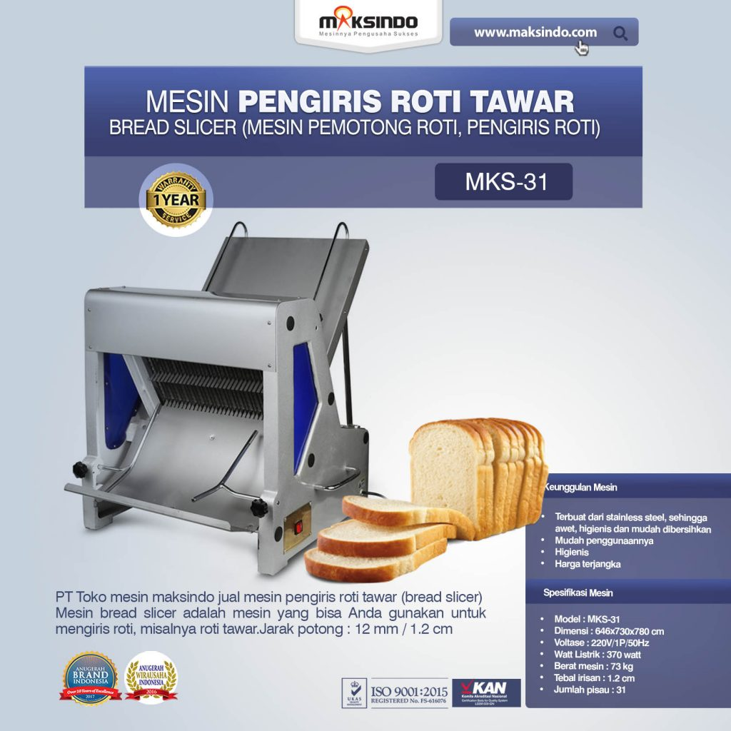 Mesin Pengiris Roti Tawar Bread Slicer MKS-31