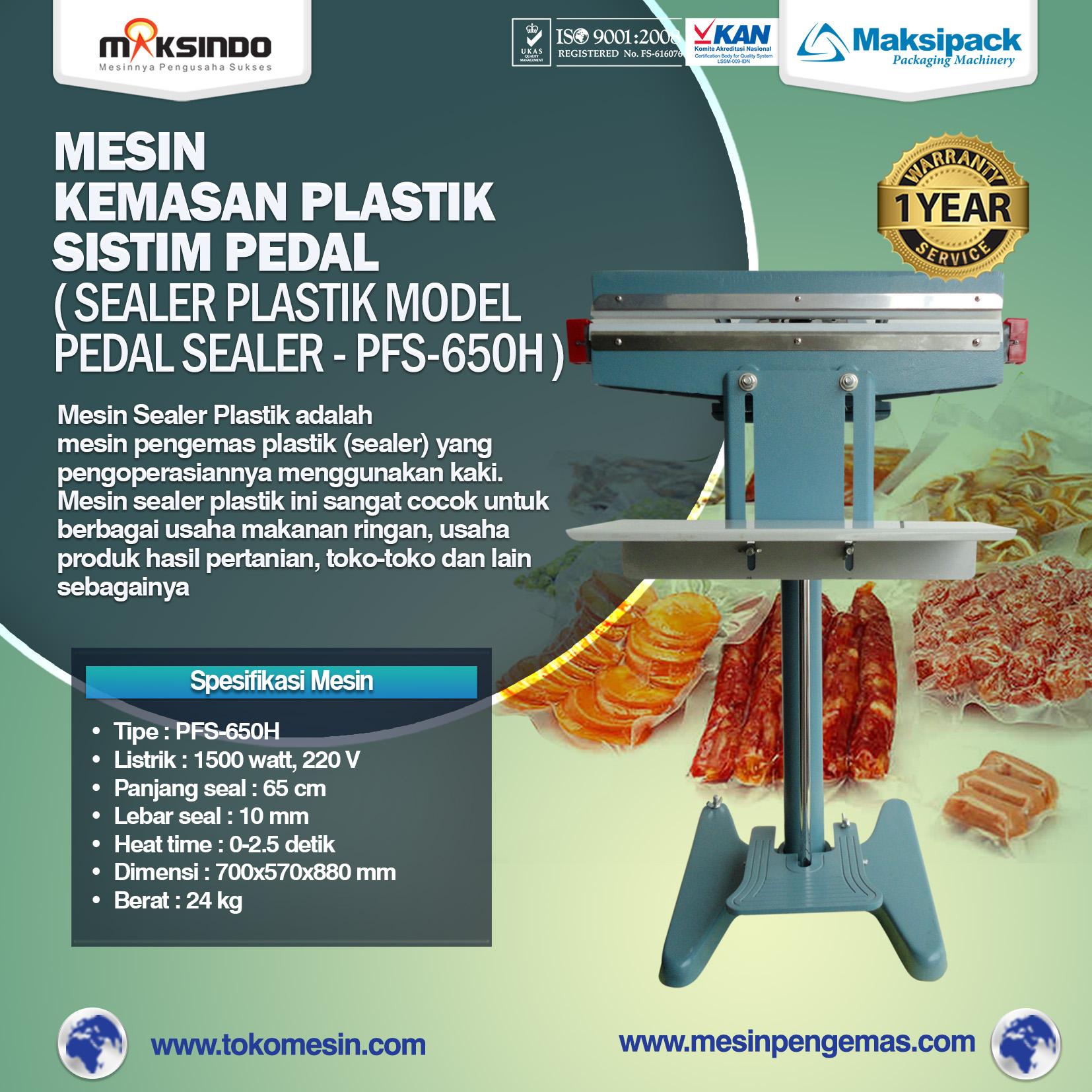 Mesin Sealer Plastik Pedal Sealer PFS-650H