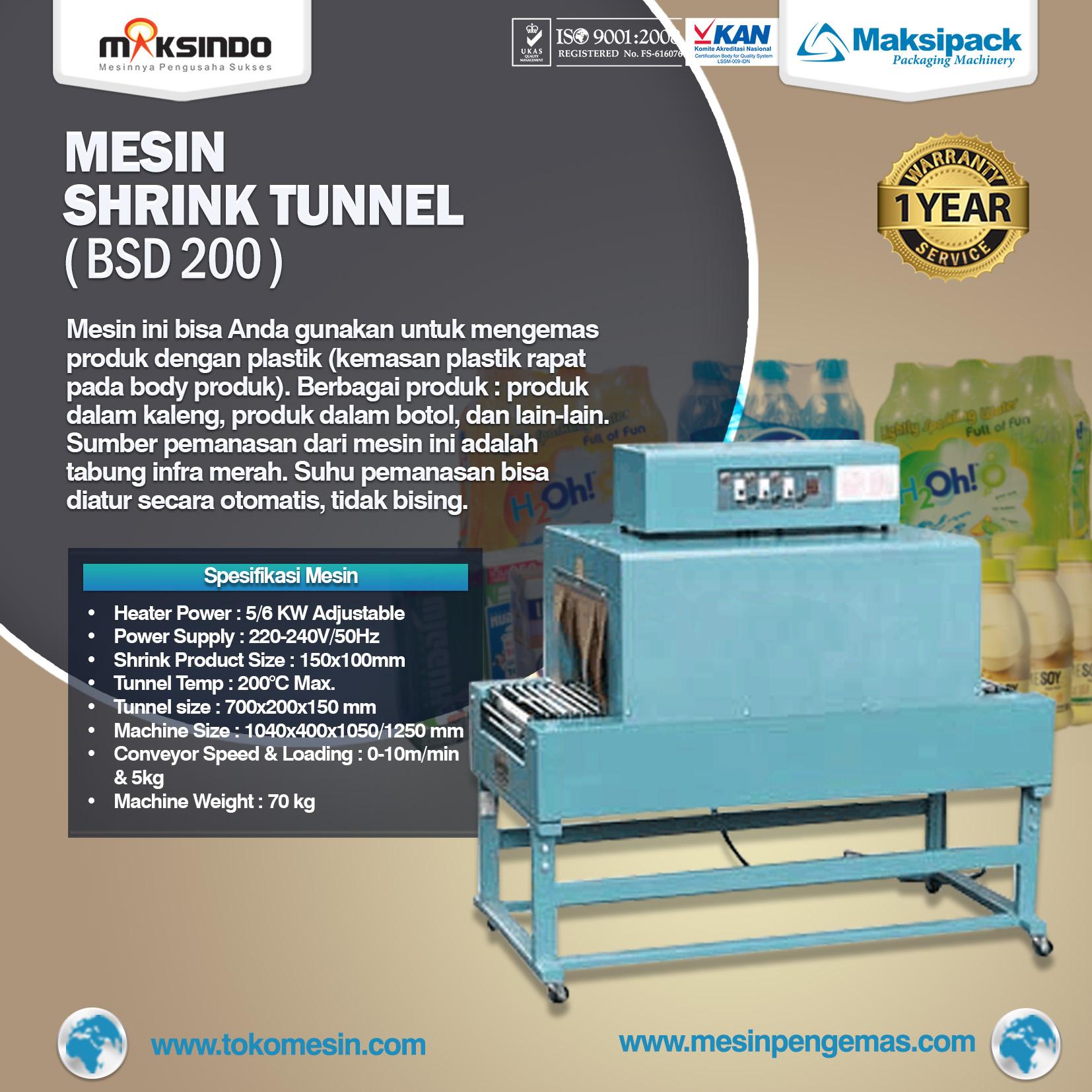 Mesin Shrink Tunnel BSD 200
