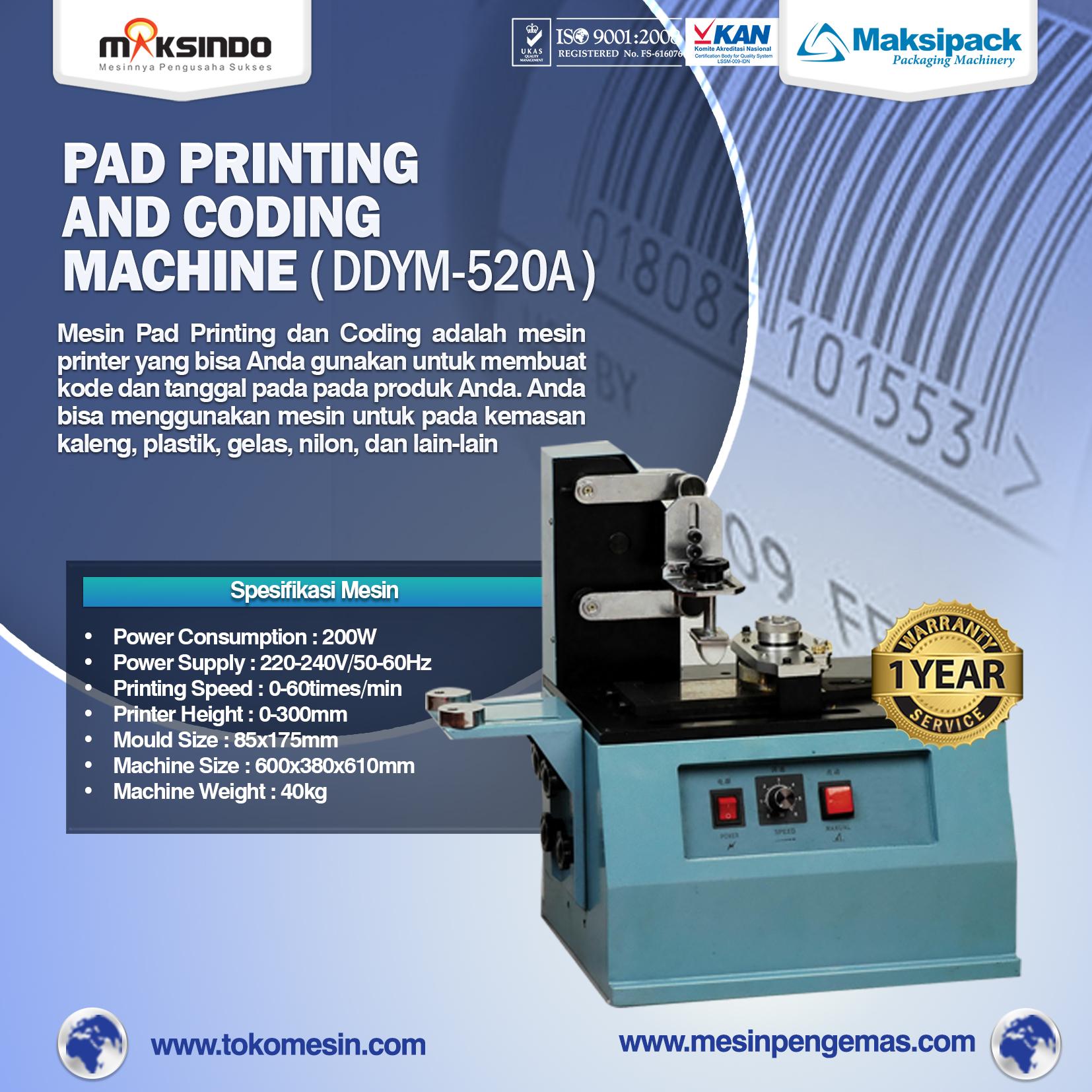 Pad Printing Machine (DDYM-520A)