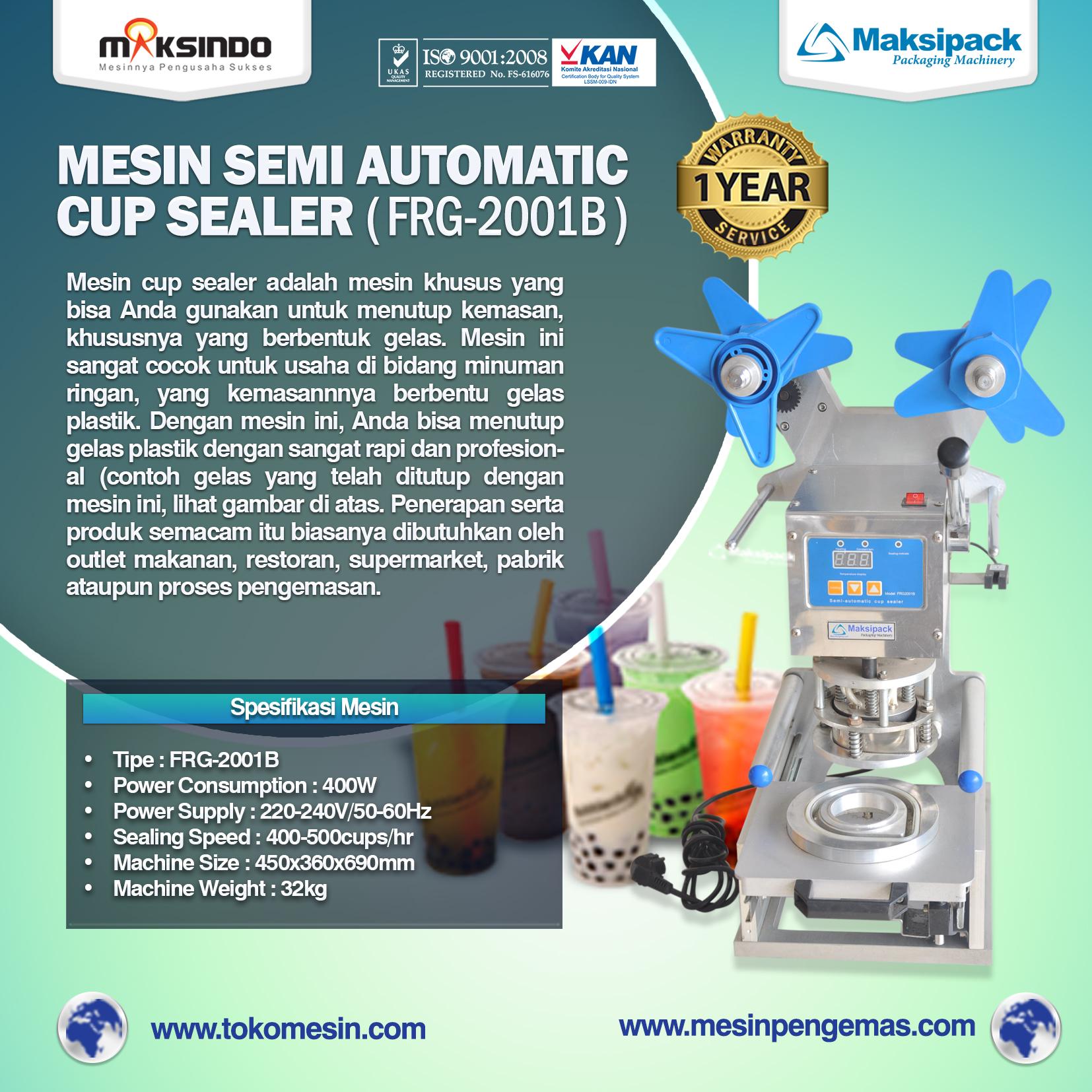 Semi Automatic Cup Sealer (FRG-2001B)