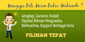Jual Paket Mesin Pembuat Bakso Maksindo Terbaru di Tangerang