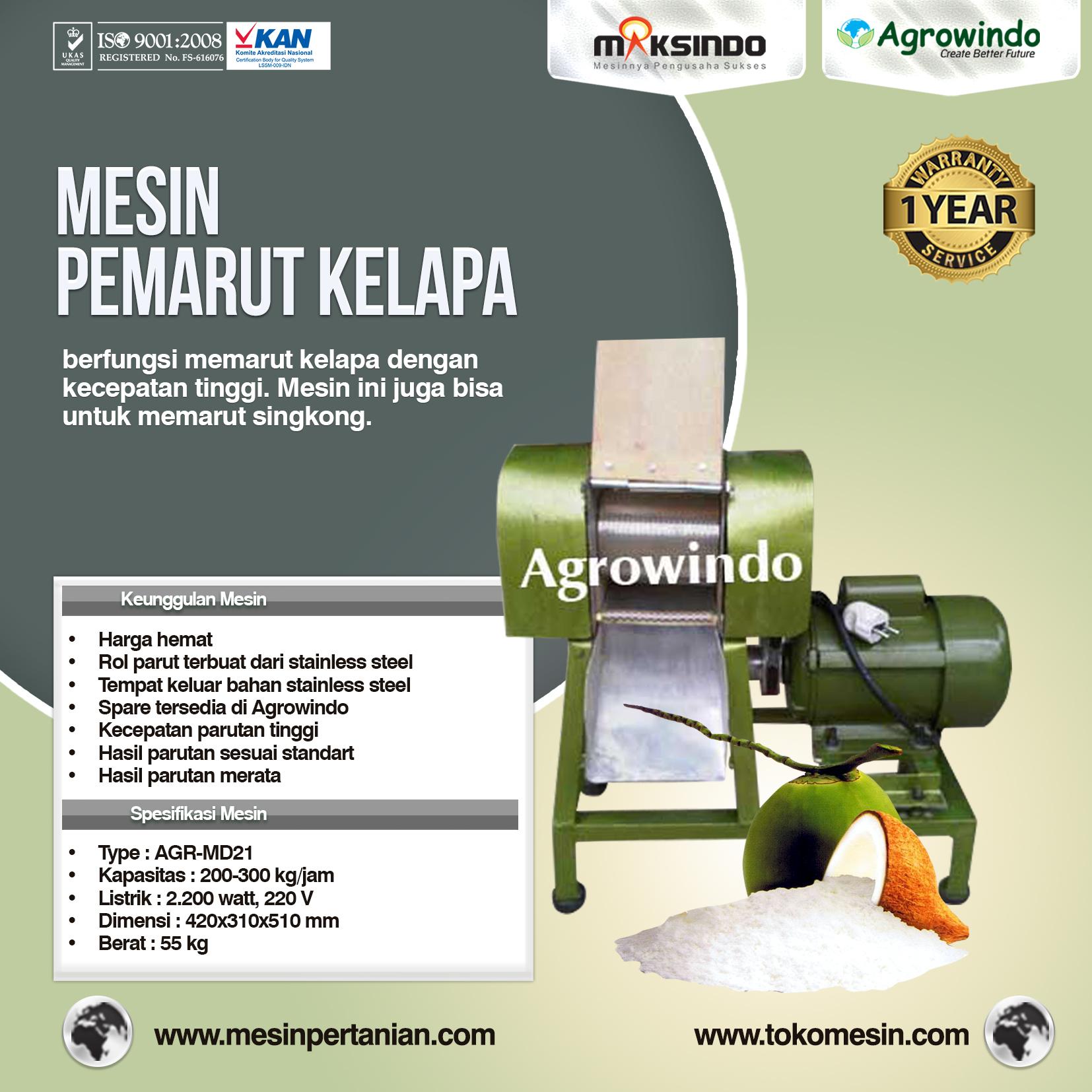 Mesin Pemarut Kelapa PRT50-Agrowindo
