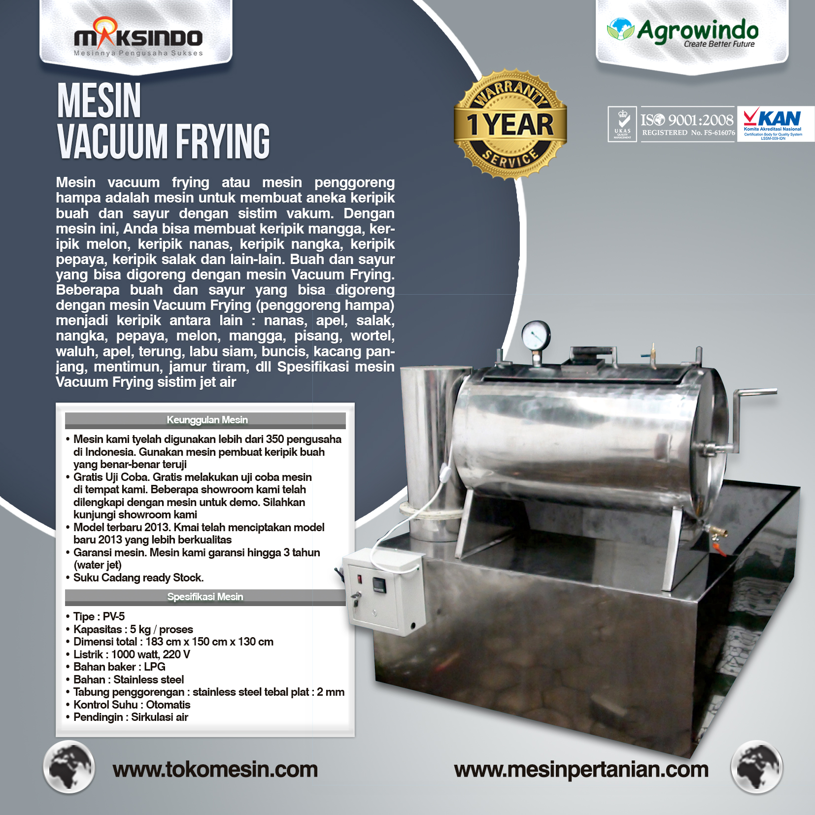Vacuum Frying 5 kg