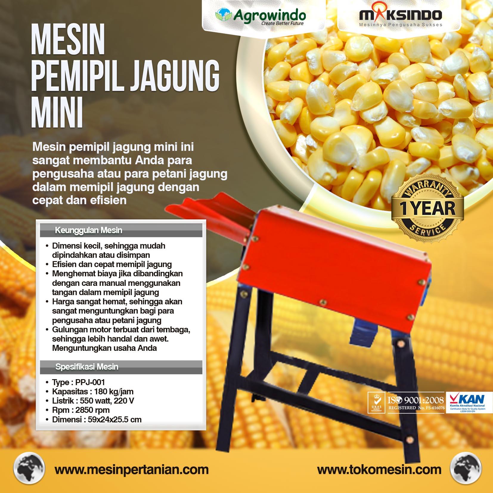mesin pemipil jagung mini