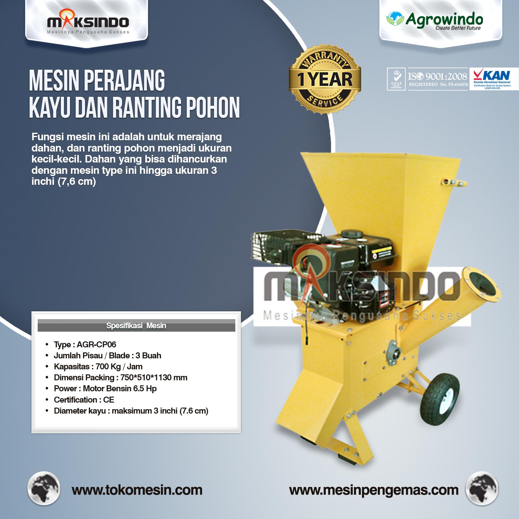 Perajang Kayu Dan Ranting Pohon AGR-CP06