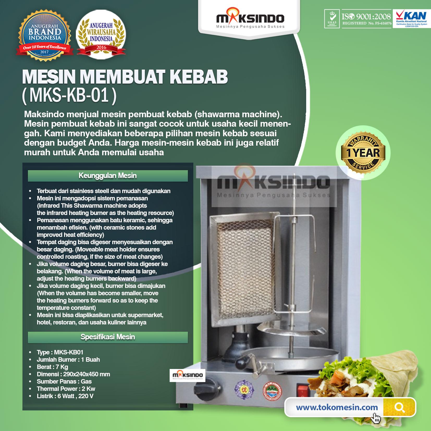 Mesin Kebab Untuk Membuat Kebab MKS-KB01