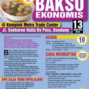 Training Usaha Bakso di Bandung, 13 Agustus 2016