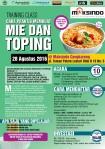 Training Usaha Mie dan Toping di Cengkareng, 28 Agustus 2016