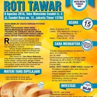 Training Usaha Roti Tawar di Condet, 6 Agustus 2016
