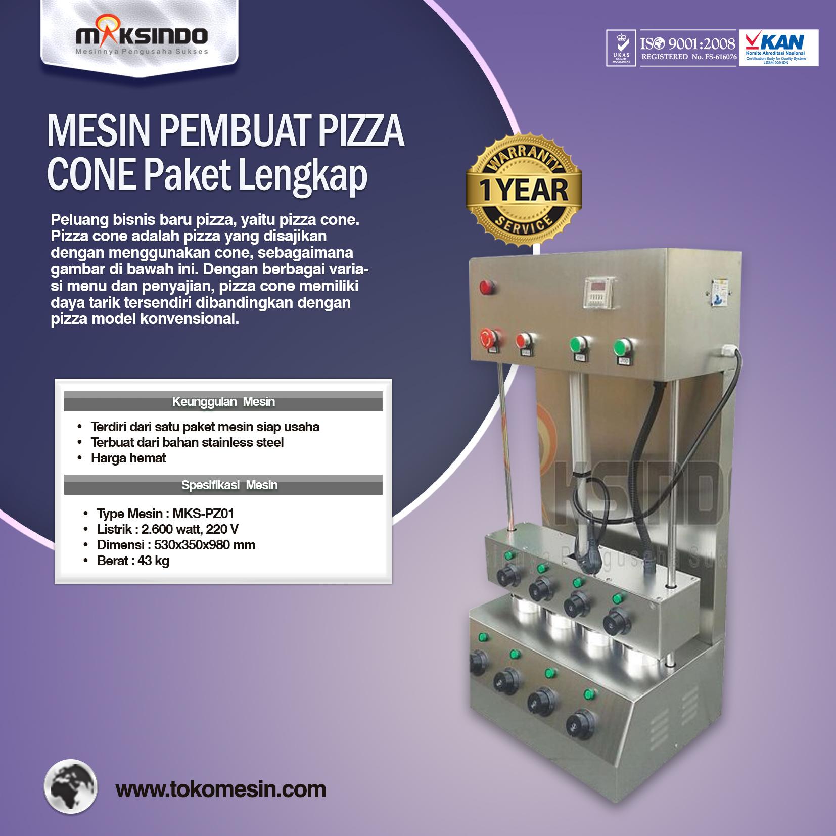 Mesin Pembuat Pizza Cone Paket Lengkap MKS-PZ01