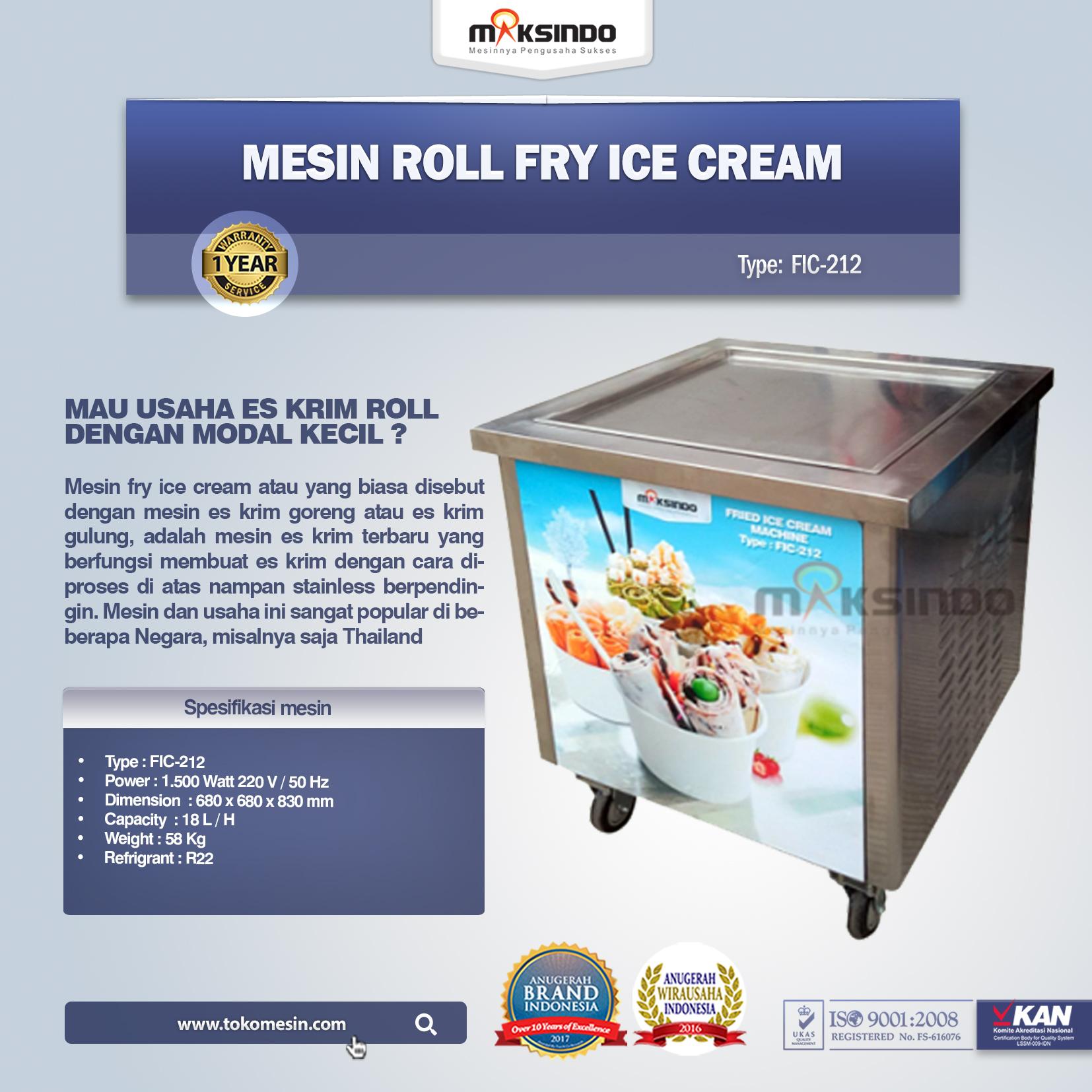 Mesin Roll Fry Ice Cream ( FIC-212 )