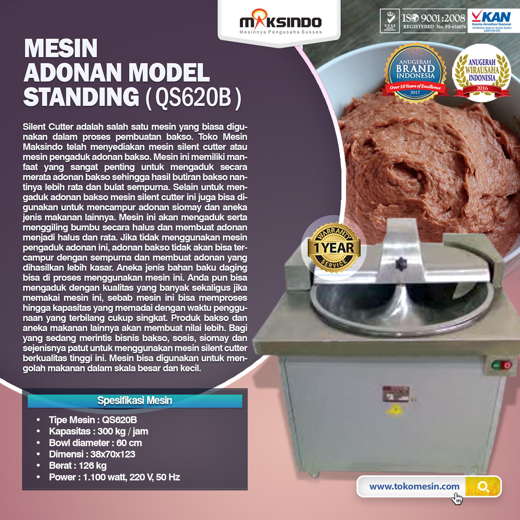 Mesin Adonan Model Standing QS620B