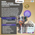 Jual Mesin Ayakan Tepung Stainless Berkualitas di Tangerang