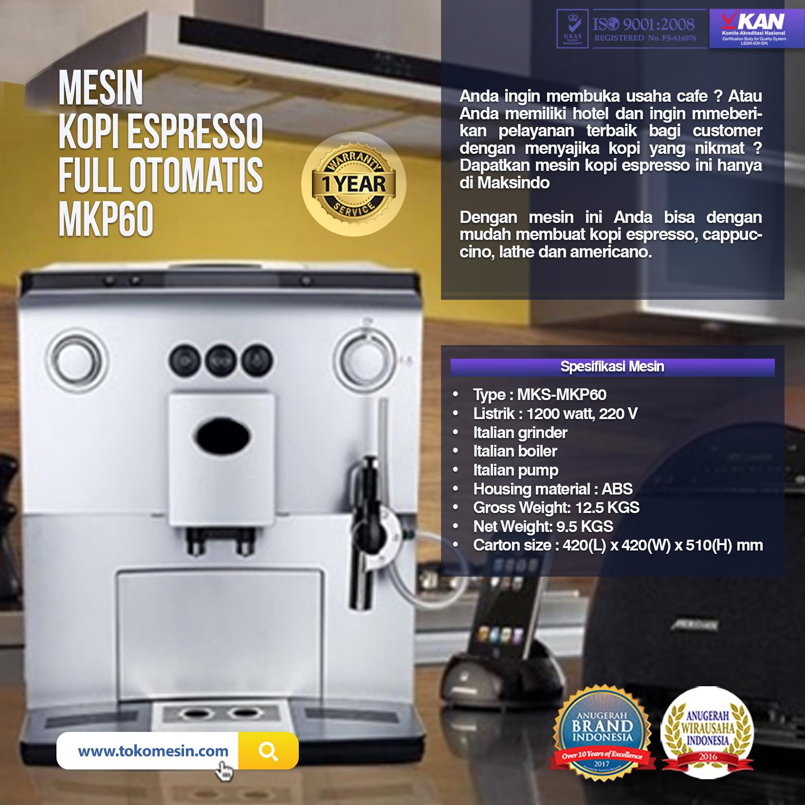 Mesin Kopi Espresso Full Otomatis MKP60