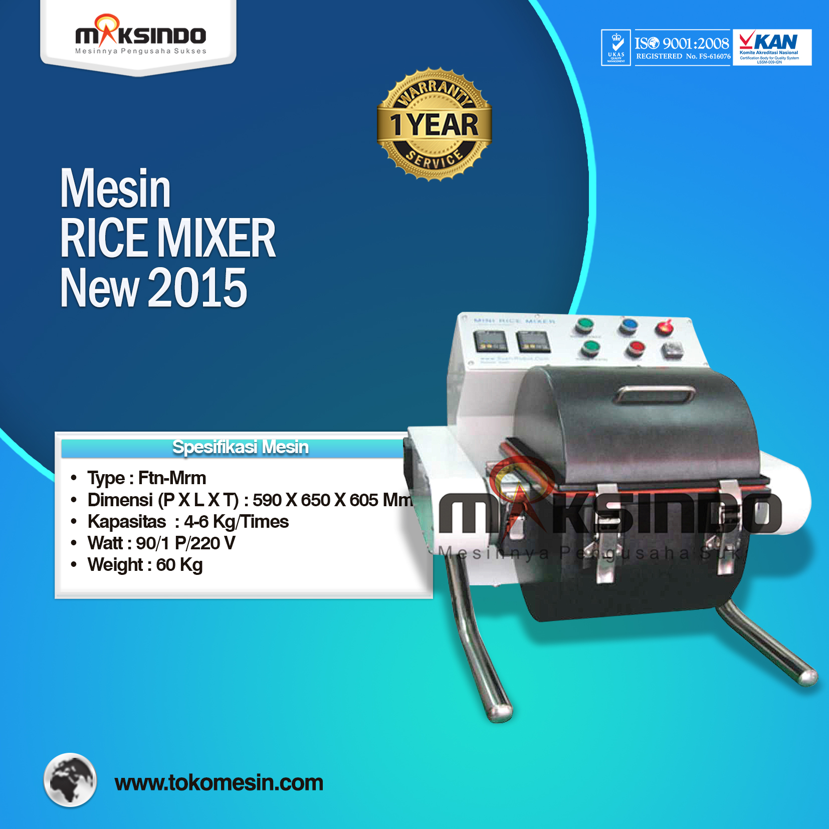 Mesin RICE MIXER New 2015