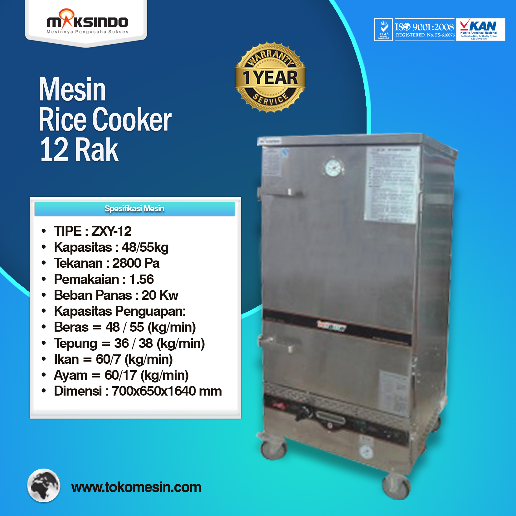 Rice Cooker 12 Rak