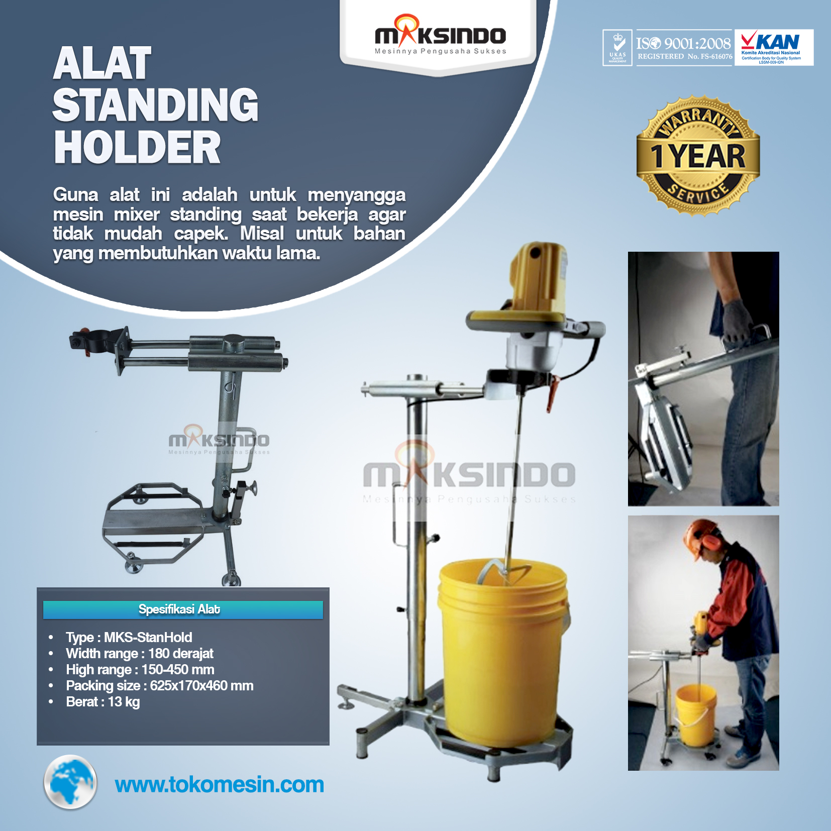Alat Standing Holder