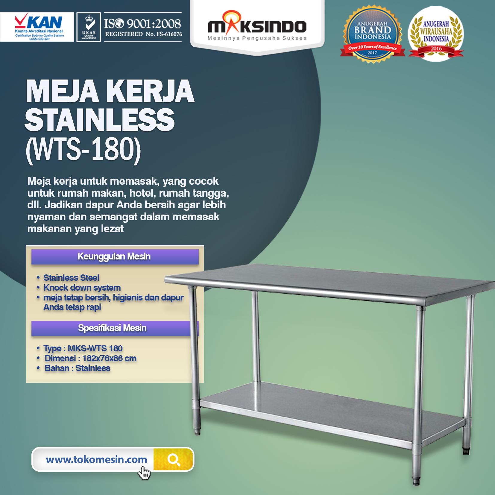 Meja Kerja Stainless WTS-180