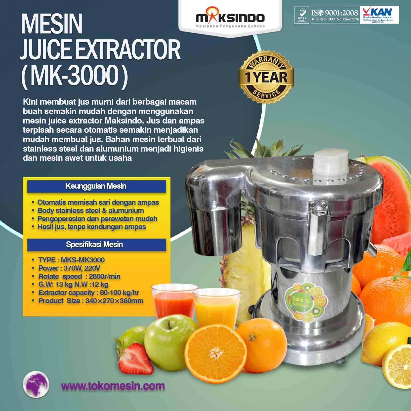 Mesin JUICE EXTRACTOR ( MK-3000 )