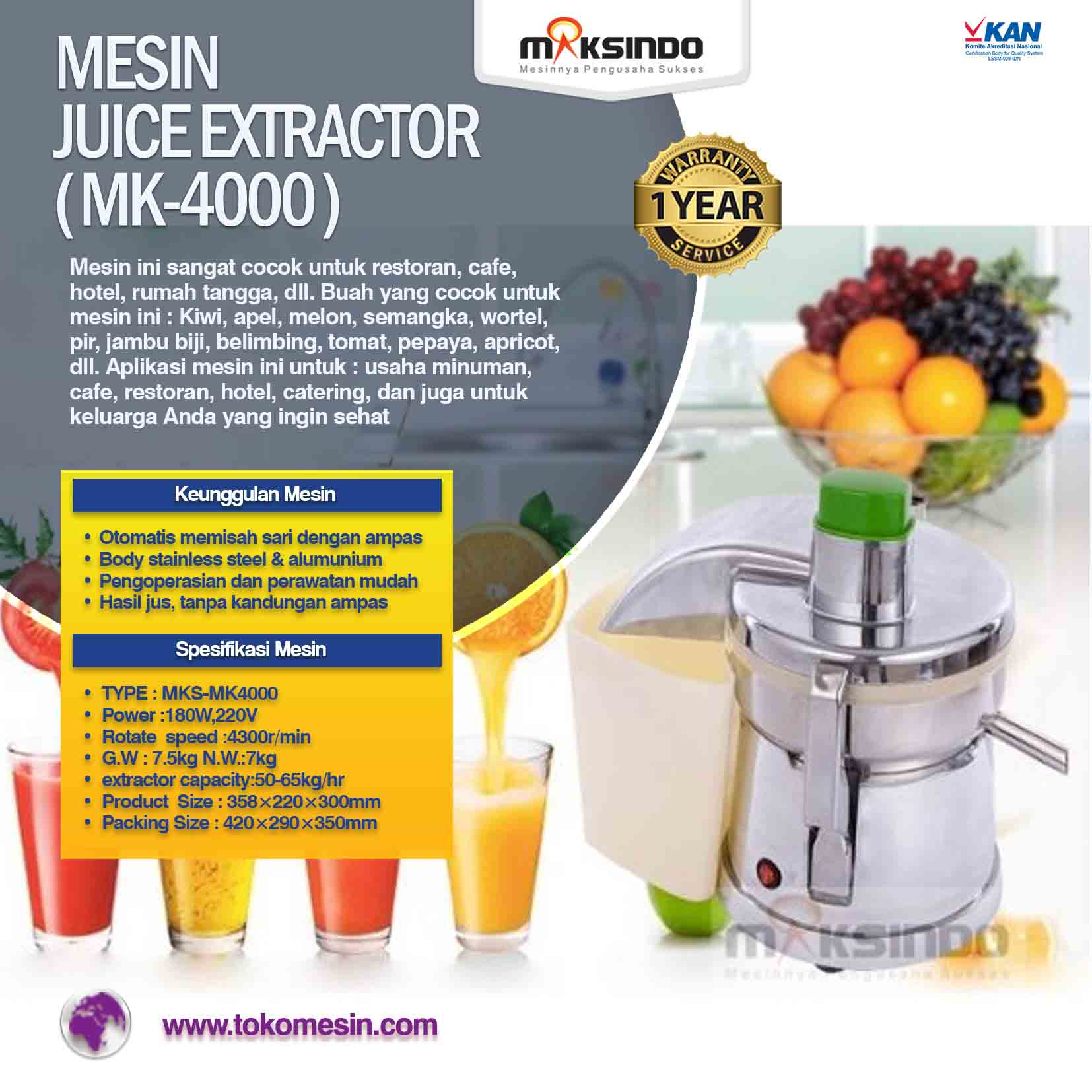 Mesin JUICE EXTRACTOR ( MK-4000 )