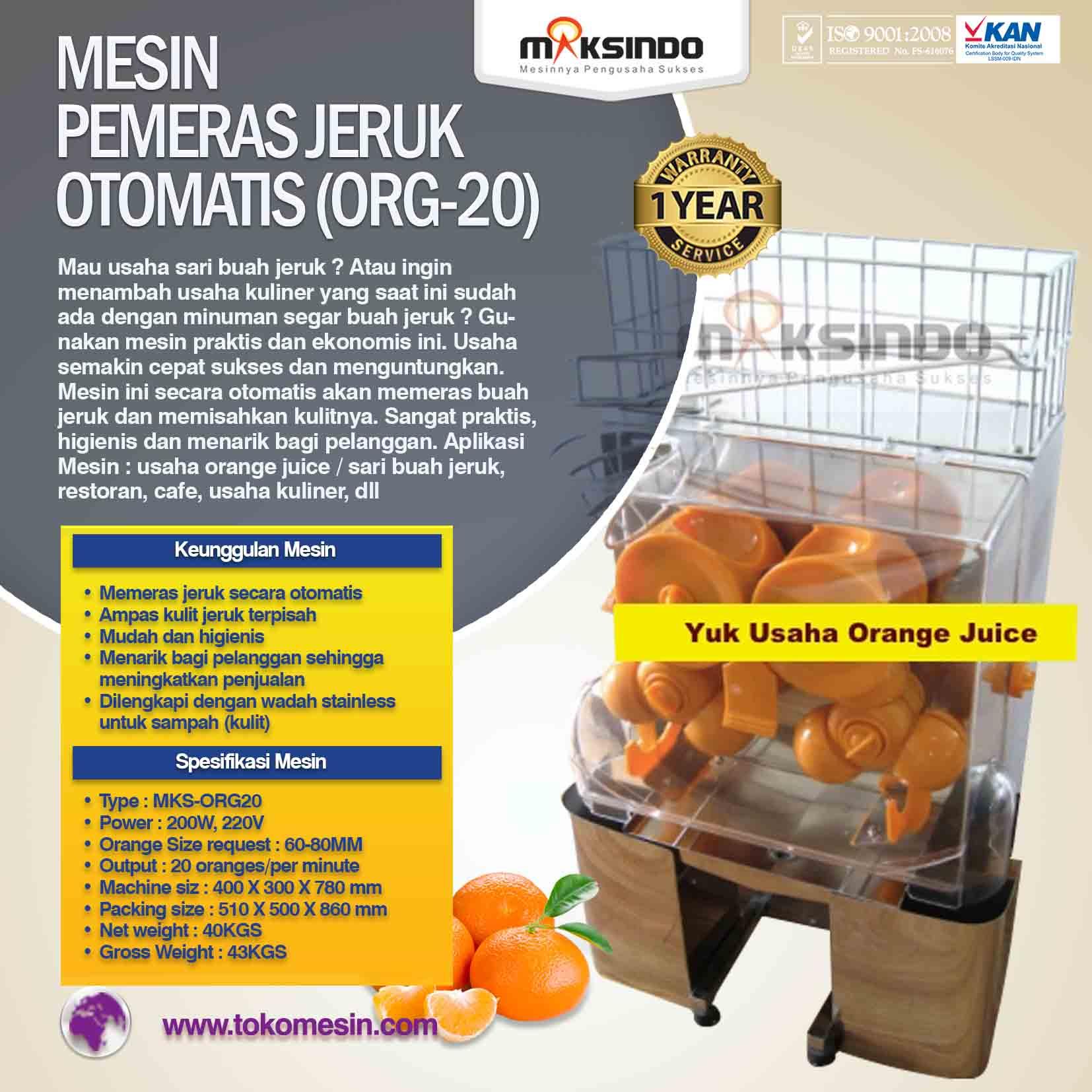 Mesin Pemeras Jeruk Otomatis (ORG-20)