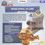 Jual Mixer Spiral 40 Liter (MKS-SP40) di Tangerang