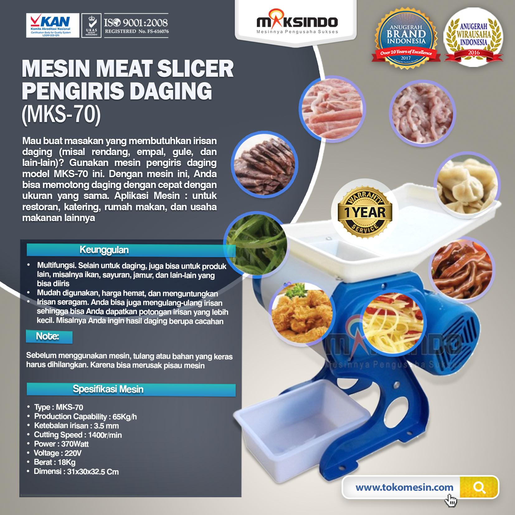 Meat Slicer Pengiris Daging – MKS-70