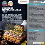 Jual Mesin Food Dehydrator 10 Rak (FDH10) di Tangerang