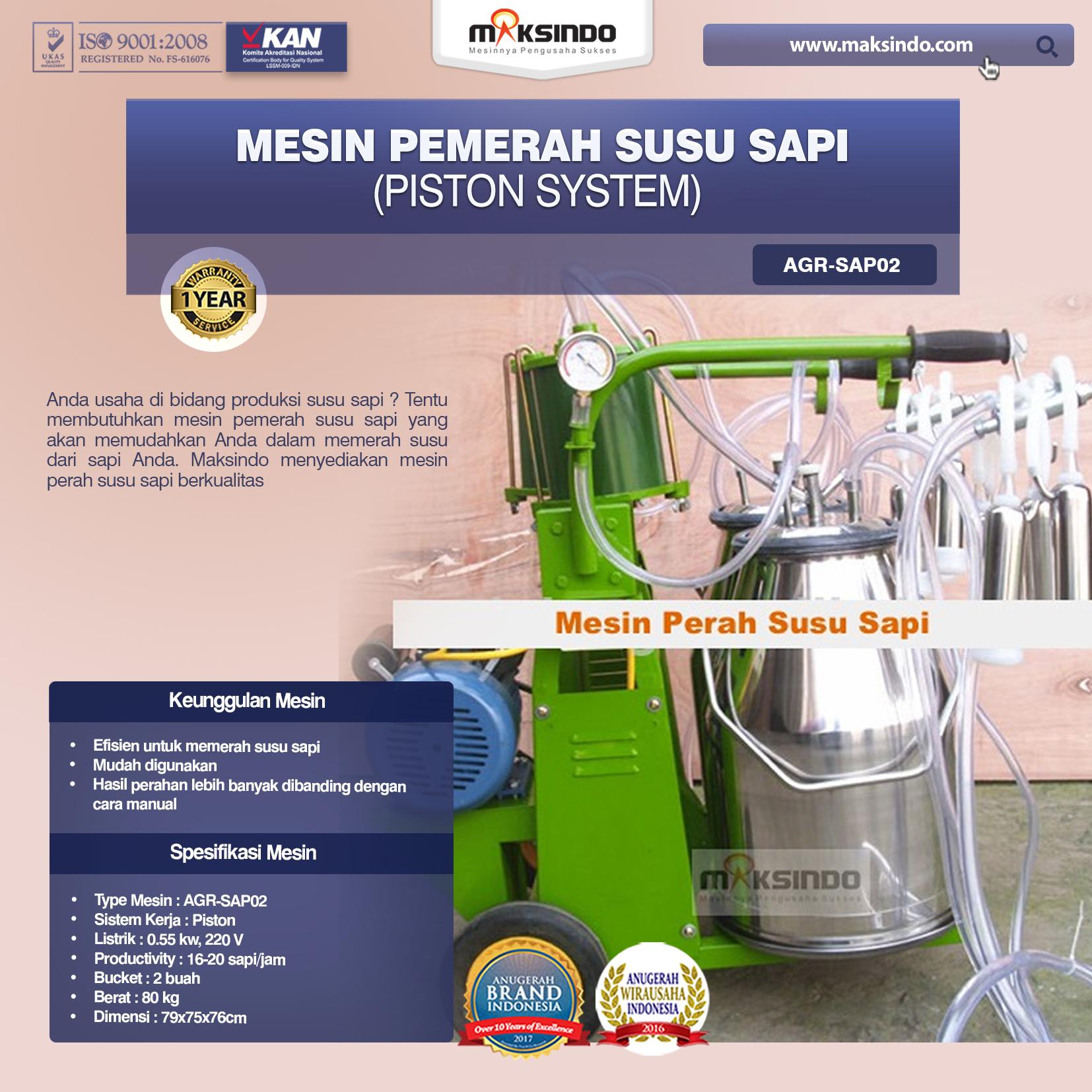 Mesin Pemerah Susu Sapi AGR-SAP02