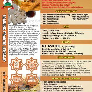 Training Usaha Jajanan Favorit dan Terlaris , 20 Mei 2017