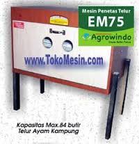 Jual Mesin Penetas Telur Manual 75 Butir (EM-75) di Tangerang