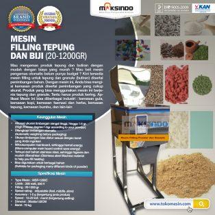 Jual Mesin Filling Tepung dan Biji (20-1200gr) di Tangerang