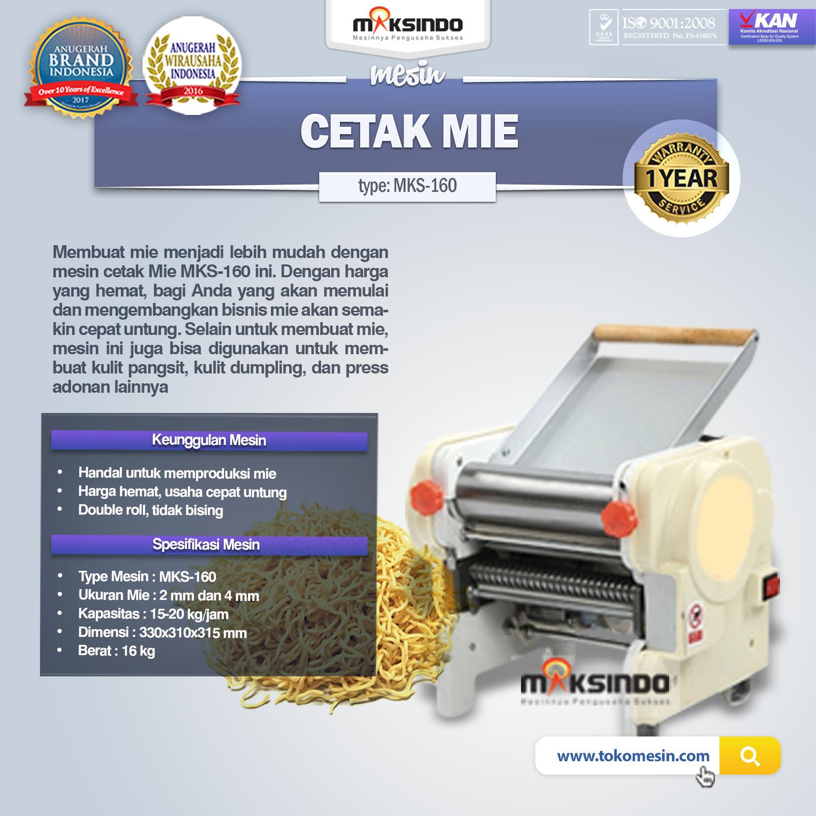 Mesin Cetak Mie MKS-160