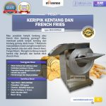 Jual Mesin Keripik Kentang dan French Fries KRP650 di Tangerang