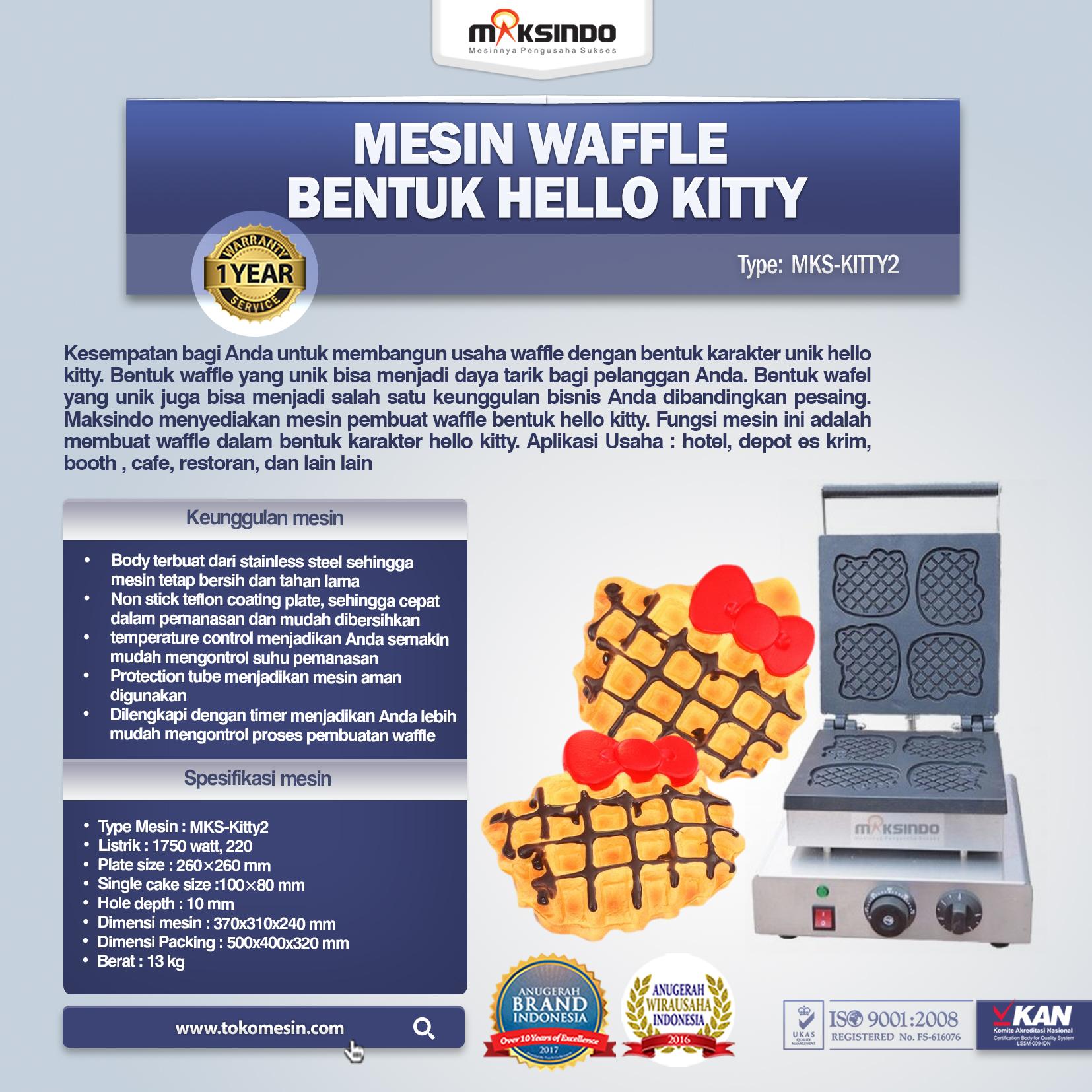 Jual Mesin Waffle Bentuk Hello Kitty Kitty2 Di Tangerang