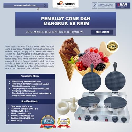 Pembuat Cone dan Mangkuk Es Krim MKS-CIC22