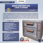 Jual Mesin Oven Roti Gas 2 Rak 4 Loyang (GO24) di Tangerang