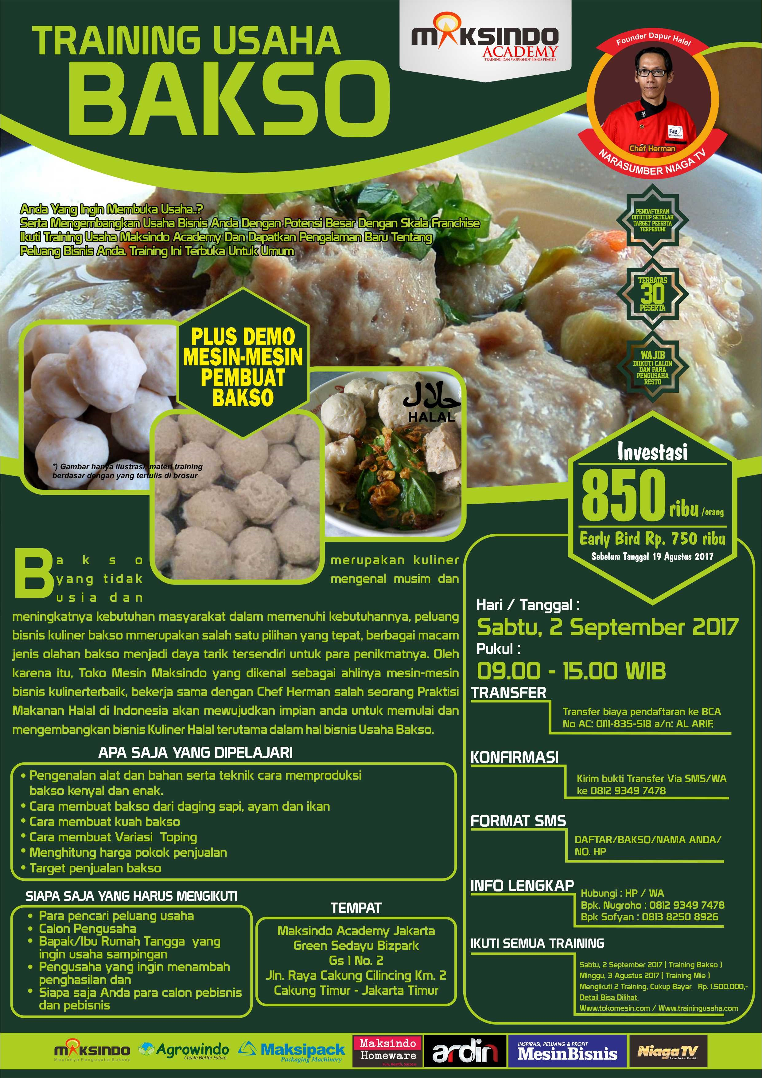 TRAINING BAKSO 2 SEPTEMBER