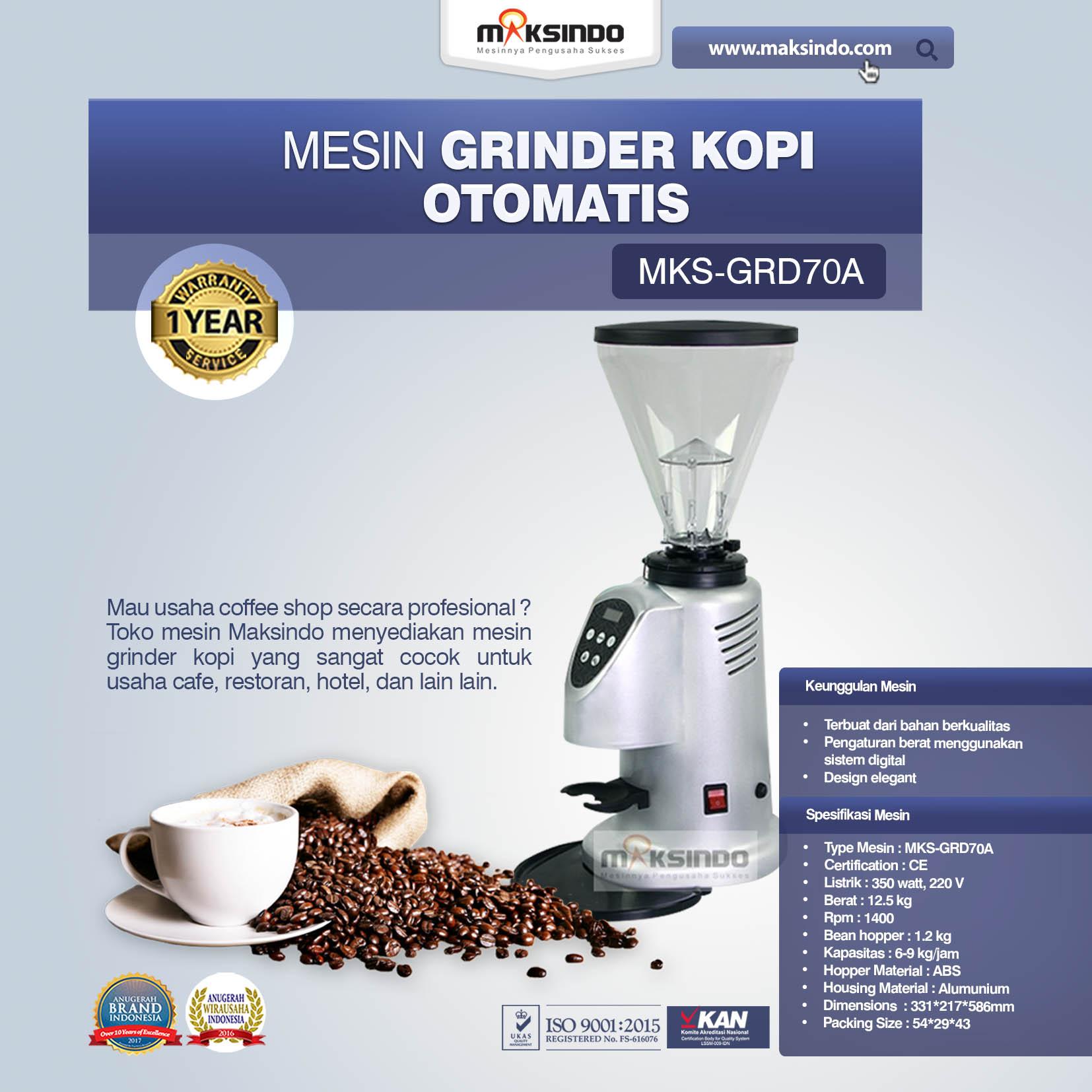 Jual Mesin Grinder Kopi Otomatis – MKS-GRD70A di Tangerang