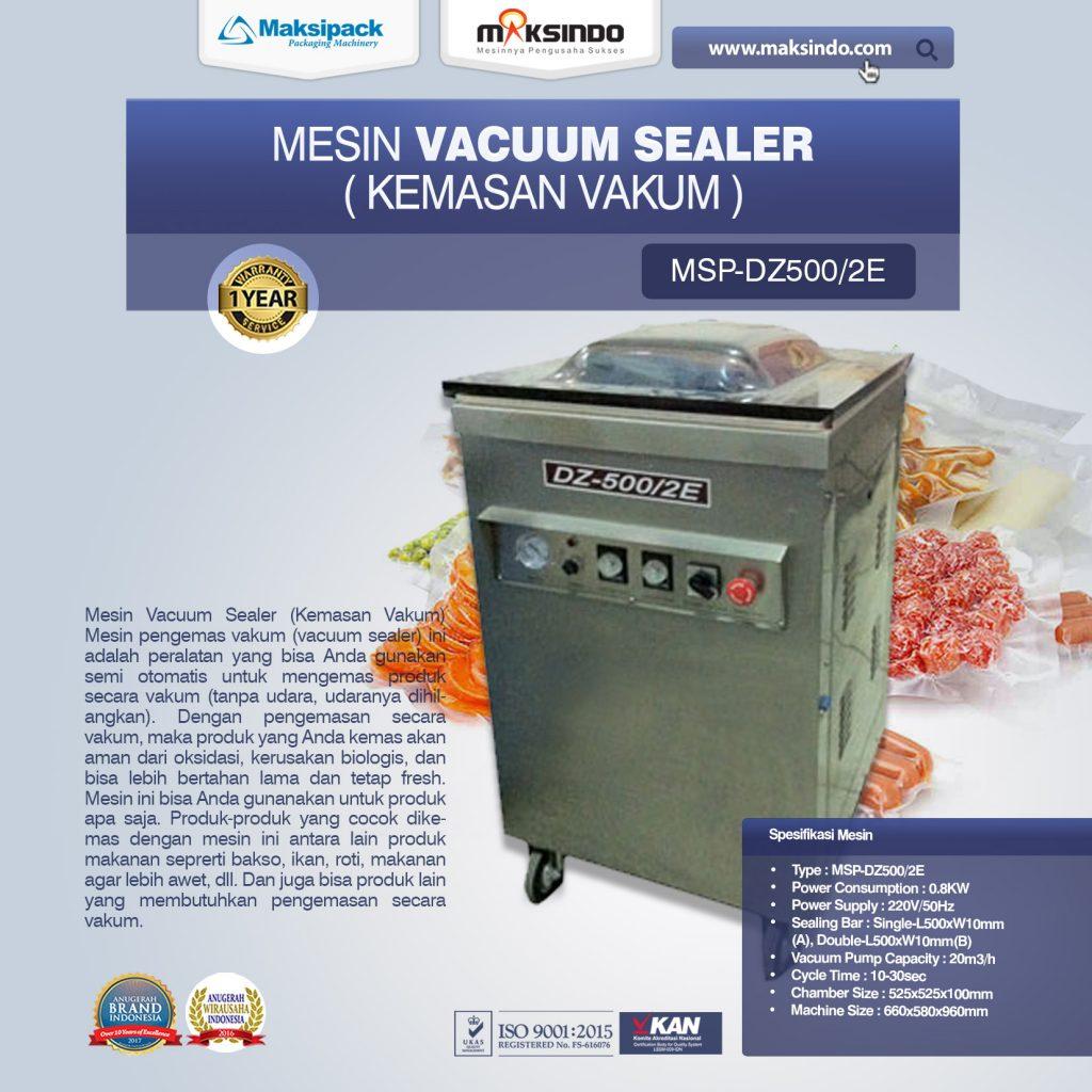 Mesin Vacuum Sealer Kemasan Vakum MSP-DZ500 2E