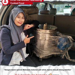 Cooked Food : Mesin Spiner Maksindo Menjadikan Makanan Lebih Sehat