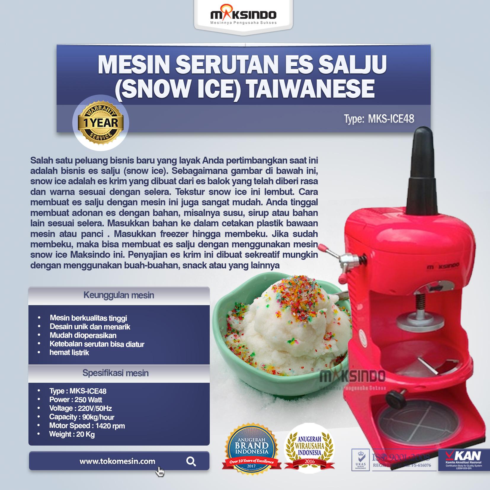 Mesin Serutan Es Salju (Snow Ice) Taiwanese MKS-ICE28