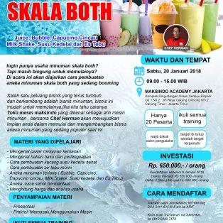 Training Usaha Aneka Minuman Skala Both, 20 Januari 2018