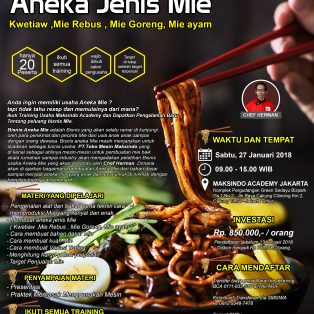 Training Usaha Aneka Jenis Mie, 27 Januari 2018