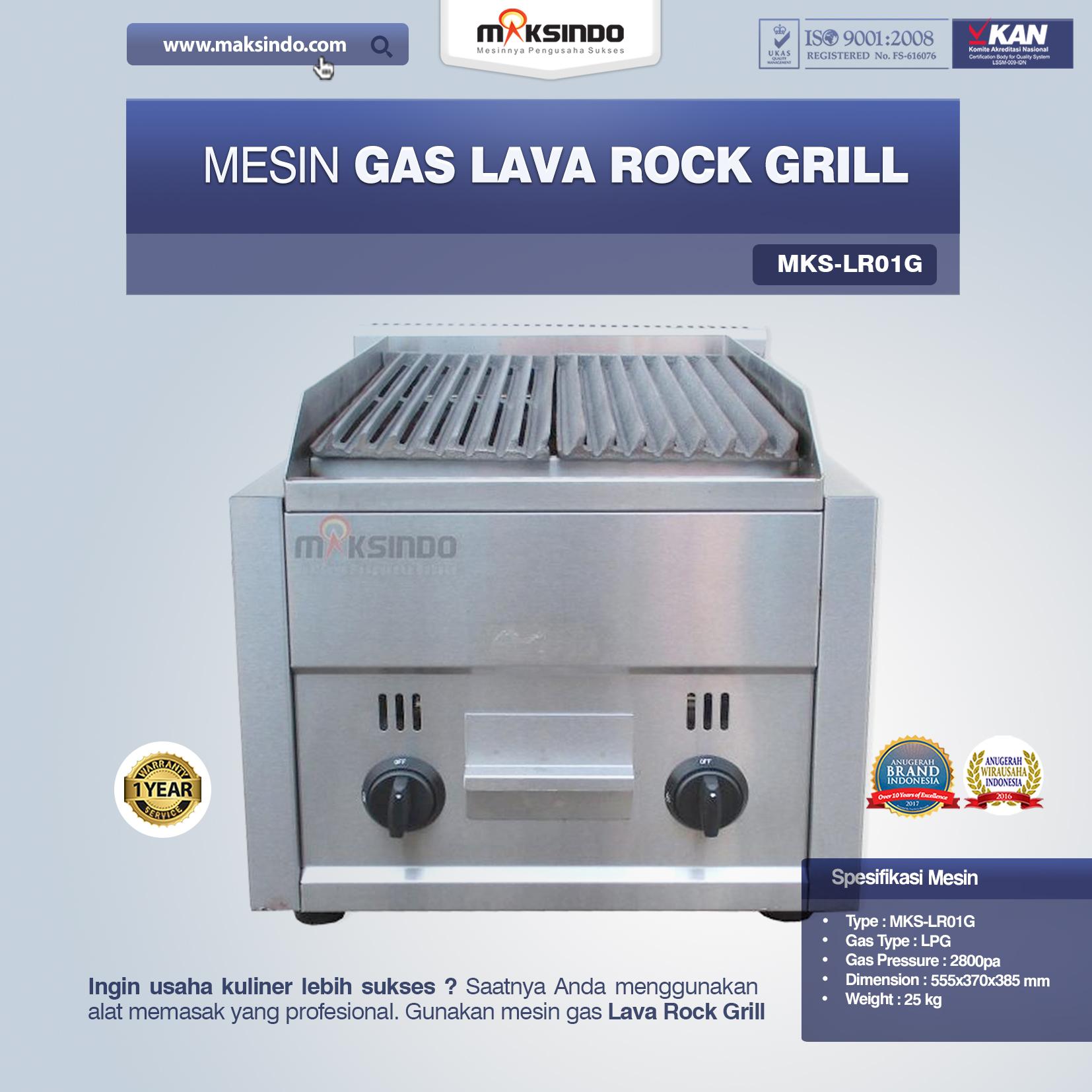 Gas Lava Rock Grill MKS-LR01G